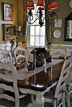 Vintage French Country Dining Room Design Ideas (53)