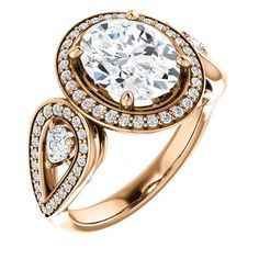 2.0 Ct Oval Ring 14k Rose Gold