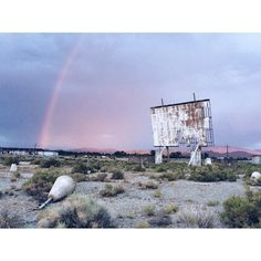 Lindsey Rickert (@lindseyrickert) photographs a rainbow over an old drive-in theater in #Yerington #Nevada. This photograph along with others from her series Drive-In America is one of the winning pictures from The Print Swap. @theprintswap is a new way for photographers to connect and share their work. Photographers can submit images using the hashtag #theprintswap. Each winner will give a print and receive a print from someone else in exchange. Its free to apply and we take care of…