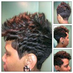 Statesboro Hair Salon. Spikes & Flips Hairstyle by Davita