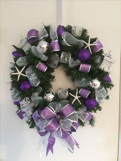 Purple Christmas Island wreath