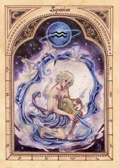 Aquarius - the water carrier It's the sign of my beloved sister (and my mum♥). I have though a lot about you while designing him and hope he appeals to you... [Aries] [Thaurus] [Gemini...