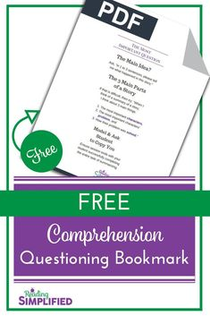 Are you asking TOO MANY comprehension questions but ignoring the 1 most VITAL one? Discover why summarizing is essential to reading achievement & how to coach students to develop that skill. Also, snag a FREE bookmark to remind you of the coaching tips! Reading Fluency, Teaching Reading, Reading Aloud, Reading Games, Comprehension Strategies, Teaching Strategies, Improve Reading Skills, Reading Incentives, Learning Games For Kids