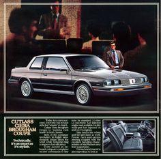 Olds Cutlass Ciera Brougham Coupe Car Advertising, Ads, Michigan, American Auto, Gm Car, Car Brochure, Oldsmobile Cutlass, Truck Design, Classic Cars