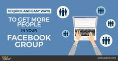 10 Quick and Easy Ways to Get More People In Your Facebook Group  ||  Great blog post at Kim Garst | Marketing Strategies that WORK :   Do you have a Facebook group for your business?  I'm not talking about your Facebook PAGE, although that's super important too!  [..] https://kimgarst.com/10-quick-easy-ways-get-people-facebook-group?utm_campaign=crowdfire&utm_content=crowdfire&utm_medium=social&utm_source=pinterest