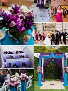 purple and teal wedding from @Style Me Pretty