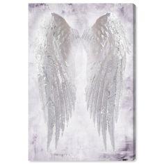 Angel Wings Painting, Angel Wings Art, Angel Wings Wall Decor, Angel Artwork, Angel Decor, White Angel Wings, Canvas Art Prints, Painting Prints, Canvas Wall Art