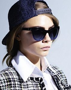 Cara Delevingne gets back in front of the lens for the latest Chanel eyewear campaign | Daily Mail Online