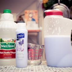 Easy home made fabric softener.  I wonder if this really works!