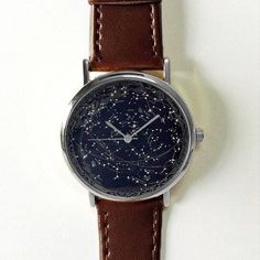 Celestial Map Watch, Mens Watch, Vintage Style Leather Watch, Women Watches, Boyfriend Watch, Black, Gold Rose Gold Silver Watch, Spring I also do custom or personalized watches , please contact me and Id be glad to make something special for you and your loved ones. Ships Worldwide Type: Quartz Adjustable from 16.5 cm to 20.3 cm (6.50 inches to 8.0 inches) . If you want additional holes for adjustment, please make a note upon checkout or send me a convo Display: Analog Dial Window Material…