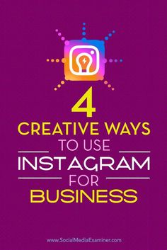 Is your business using Instagram?  By making the most of Instagrams unique features, you can stand out from the crowd and leave a lasting impression with customers and fans.  In this article, youll discover four creative Instagram accounts you can model