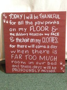 Today I will be thankful for the paw prints on my floor on Etsy, $12.00
