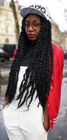 afro hair, black womens inspiration, hairstyle, twists, black girl, street style