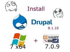Install #Drupal 8.1.10 opensource PHP #CMS on Windows 7 x64 localhost ( XAMPP 7.0.9 - #php7 ) #CodingTrabla Tutorials