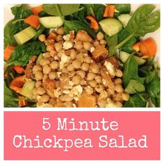 I make this ALL the time when I'm in need of a quick and healthy lunch  all you need is  a tin of chickpeas (drained) and chunks of feta cheese and you're ready to add whatever veg you have to hand! I LOVE adding sundried tomatoes olives and grated lemon or sweet potato and butternut squash  if you've any other yummy chickpea recipes... Let me know #kindasortaobsessed