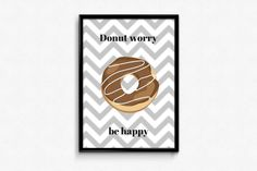 A3, Donuts, No Worries, Posters, Etsy, Frost Donuts, Beignets, Poster, Billboard