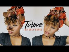 How To: 12 Quick & EASY Headwrap Styles (TWA & Short Natural Hair Friendly We hear and see the compl Curly Bangs, Short Curly Hair, Curly Hair Styles, Natural Hair Styles, Hair Wrap Scarf, Hair Scarf Styles, Hair Scarfs, Turbans, Headscarves