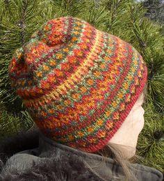 Waterville Hat with handspun yarn.