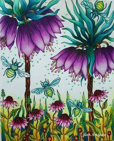 Weekend is around the corner. Dagdrömmar/Daydreams by Hanna Karlzon. #dagdrömmar #daydream #hannakarlzon #adultcolouringbook #adultcoloringbook #art #majesticcoloring