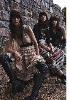 Model Pose on Violet Magazine Fall Winter 2015 Photoshoot