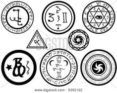 Symbols and spells | Alchemical Symbols And Magickal Sigils Stock Vector & Stock Photos ...