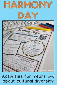 Home :: Grade / Year Level :: Primary Education :: Year 5 :: Harmony Day Activity Pack - Years School Resources, Teaching Resources, Teaching Ideas, Numeracy Activities, Activities For Kids, Activity Ideas, Primary Education, Primary Classroom, Harmony Day Activities