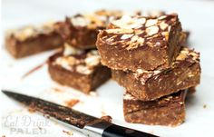 No bake caramel chocolate paleo slice recipe | Eat Drink Paleo