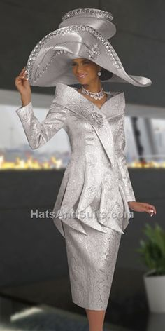 Designer Church Suits carries The World's largest selection of womens church suits, church hats & church dresses. We are a leader in the ladies Church Suit Church Suits And Hats, Women Church Suits, Church Attire, Church Dresses, Church Hats, Church Outfits, Suits For Women, Couture Mode, Couture Fashion