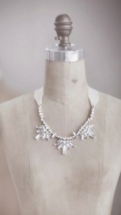 Such a pretty crystal necklace on a grosgrain ribbon  http://rstyle.me/n/d8byinyg6