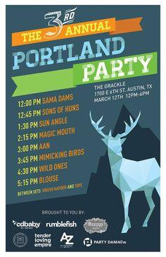 The Portland Party #sxsw #sxsw2014 Portland in Austin... I should be there!