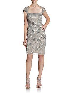 Embellished Fringe Shift Dress - SaksOff5th