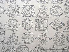 Initials, Ciphers, & Monograms, Oh My! - NeedlenThread.com» Mary Corbet's Needle 'N Thread