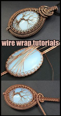 Wire wrapped tree of life tutorial PDF. Wire Wrapped jewelry tutorials. Wire Wrap tutorial Step by step. DIY Pendant Tree of Life. The book has 160 pages, more than 300 high-resolution photos. After studying the lessons you can independently make four pendants Tree of Life. I use copper wire in my tutorial. And this does not necessarily mean that you should use copper wire. Use any wire. Wire Wrapped Pendant, Wire Wrapped Jewelry, Wire Jewelry, Handmade Jewelry, Diy Jewellery, Diy Jewelry Tutorials, Diy Jewelry Making, Stone Wrapping, Wire Wrapping