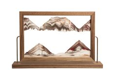 Moving Sand Pictures in Walnut and Black Landscape