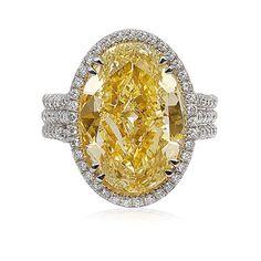 Louis Newman - bague fiancailles diamant jaune
