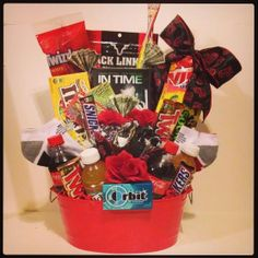 Birthday or Father's Day Gift Basket for a Man by BasketsOfDestiny, $85.00