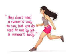 I don't know who said this but this is my new favorite running quote! ~