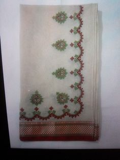 Kutch embroidery dupatta with golden badla work