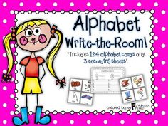 """Get your kiddos up and moving around the room with this fun """"Alphabet Write the Room {Beginning Sounds}!"""" packet!!"""
