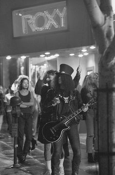 Slash in front of the Roxy.