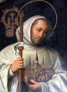 Bernard of Clairvaux, abbot and Doctor of the Church, was born in 1090 of noble parentage in Burgundy, France, in the castle of Fontaines near Dijon. Description from cacina.wordpress.com. I searched for this on bing.com/images