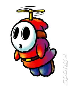 View an image titled 'Fly Guy Art' in our Yoshi's Island DS art gallery featuring official character designs, concept art, and promo pictures. Super Mario Bros, Super Mario World, Super Mario Brothers, Yoshi, Batman Drawing, Guy Drawing, Nintendo Decor, Mario Tattoo, Island Tattoo
