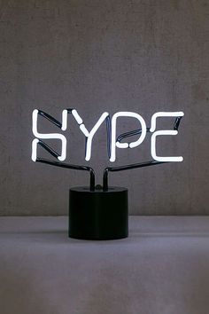 Urban Outfitters Hype Neon Sign Table Lamp