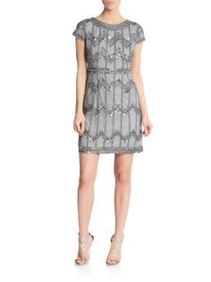 Adrianna Papell - Beaded Shift Dress