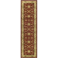 Charlton Home Ottis Red/Ivory Persian Area Rug Rug Size: