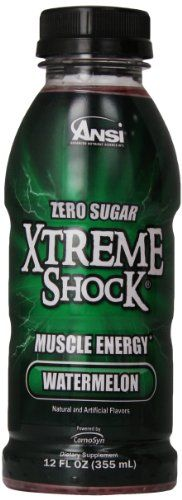 Ansi Xtreme Shock RTD Energy Drink Watermelon 12 oz 12 Count *** Learn more by visiting the image link.