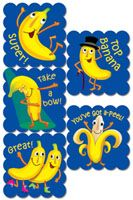 Cartoon Fruit Scratch 'n Sniff Stickers – Banana