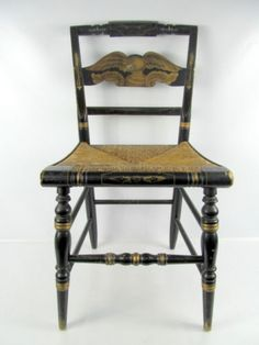 Vintage Ethan Allan Black Hitchcock Eagle Chair | EBay