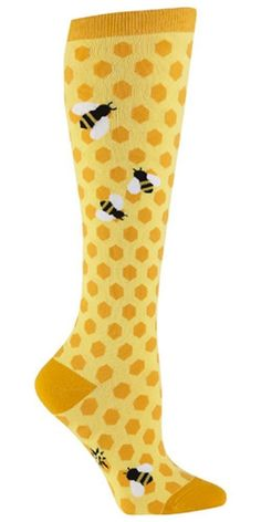 Sock It To Me Bee's Knees Women's Knee High Socks $10.00