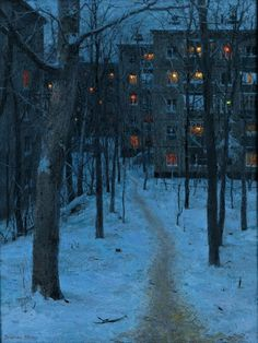 TWILIGHT by Evgeny Lushpin (oil on canvas)